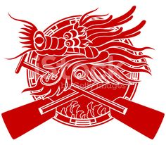 Chinese Dragon Boat Festival Paper Cut Art Symbol Stock Vector
