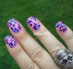 Pink/Purple leopard