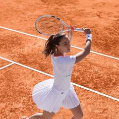 Alize Cornet in new #Lacoste outfit for Roland Garros 2017 #RG17