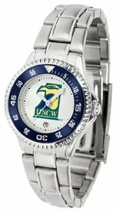 North Carolina Wilmington Seahawks UNCW NCAA Womens Competitor Steel Band Watch by SunTime. $79.95. Showcase the hottest design in watches today! The functional rotating bezel is color-coordinated to compliment your favorite team logo. The Competitor Steel utilizes an attractive and secure stainless steel band.