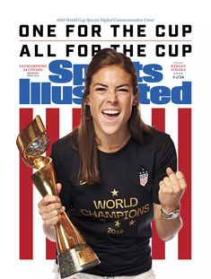 Kelley O'Hara Sports Illustrated Commemorative Digital cover celebrating the USWNT 2019 World Cup champions, July Soccer Pro, Soccer Players, Soccer Teams, Girls Soccer, Nike Soccer, Soccer Ball, Hockey, Basketball, Messi