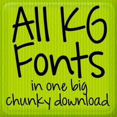 ALL Kimberly Geswein Fonts in One Big Download: Personal Use  A Personal Favorite. Kimberly's fonts rock!