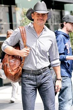 Tim McGraw — he and his wife Faith Hill made a splash with their three daughters at the Time 100 bash on Tuesday —  stayed true to his roots leaving his NYC hotel April 22.
