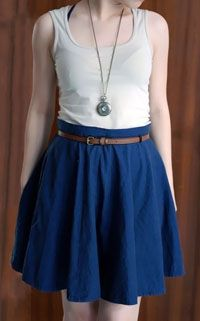 DIY Tutorial Flared Skirt