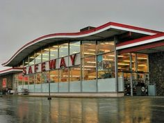 Wichita had Safeway grocery stores when we were kids. Not sure when they all closed, but it was probably in the Many of the buildings remain, with different businesses in them. Can't miss that iconic, swoopy roof line! My Childhood Memories, Great Memories, Henderson Texas, That Way, Just For You, The Good Old Days, Back In The Day, Grocery Store, Vintage Shops