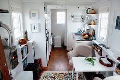inside a very small travel trailer