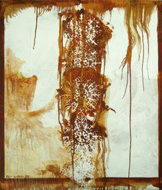"Maria Kondimae ""Snow and Rust"" Oil on board, 100*120 cm. 2011."