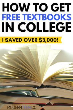 how to get free textbooks in college #freetextbooks #collegestudents #textbooks #savemoney #howto Best College Dorms, Make Friends In College, College Semester, College Tips, College Room, Free Textbooks, Freshman Advice, University Tips, College Dorm Essentials