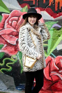 The Purrfect Coat For Autumn/Winter! Next Snow Tiger Coat and gold Zatchels Barrel Bag.