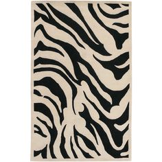 Hand tufted black and white Goa rug from Surya