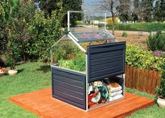 Palram Plant Inn L x W x H Greenhouse Kit Greenhouse at Lowe's. The plant inn clear is a compact polycarbonate greenhouse, great for year-round Vegetable and Herb growing in small spaces. This compact yet durable mini Best Greenhouse, Indoor Greenhouse, Greenhouse Ideas, Greenhouse Gardening, Pallet Greenhouse, Large Greenhouse, Gardening Tools, Gardening Supplies, Raised Garden Beds