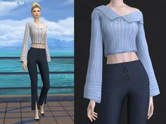 Blouse for female 04 for The Sims 4