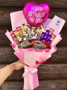 Order or enquiry's please Whatsapp us No : We provide delivery for Penang Kedah Kl Selangor (Selected Area) Candy Bouquet, Rose Bouquet, Flower Phone Wallpaper, Iphone Wallpaper, Ferrero Rocher Bouquet, Happy Birthday My Love, Chocolate Bouquet, Candy Boxes, Instagram Girls