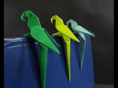 Origami Bird Tutorial - How to fold a Simple Paper Bird - YouTube