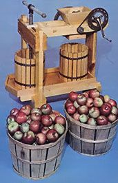 Your Own Cider Mill Do you have access to a lot of apples? Build this cider mill and you can turn them into a lot of apple cider!Do you have access to a lot of apples? Build this cider mill and you can turn them into a lot of apple cider! Apple Cider Press, Apple Building, Homemade Apple Cider, Cider Making, Hobby Farms, Preserving Food, How To Make Homemade, Fruit Trees, Home Brewing