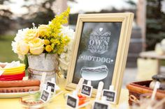 Style Me Pretty | GALLERY & INSPIRATION | GALLERY: 10863 | PHOTO: 841992  build your own hot dog bar
