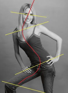 The Lean. The lean is a very graphic and dynamic pose that will not work for every subject and every outfit. It exaggerates the feminine S curve and is very effective for posing a series of images: full-length, three-quarter-length, and even tight head-and-shoulders portraits.