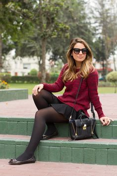 Mi look: chompa burgundy – Radar Fashion