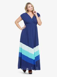 58c1d7a0c40 Color Block Chiffon Maxi Dress- I LOVE maxi dresses! They are so  comfortable and