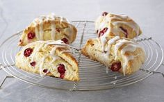 Lemon and Cranberry Scones with Lemon Glaze Recipe by Anna Olson *I always make these any always get a ton of compliments*
