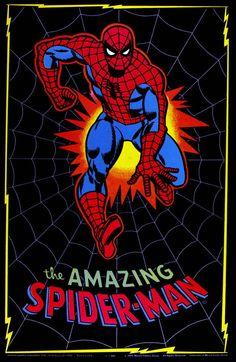 The Amazing Spider-Man Black Velvet Poster (Marvel, 1975).