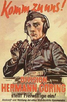 Hermann Goering Division recruiting poster, pin by Paolo Marzioli