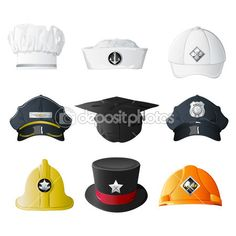 Different Profession Hats stock illustration. Illustration of manager -  18497084 9ce29d92bc75