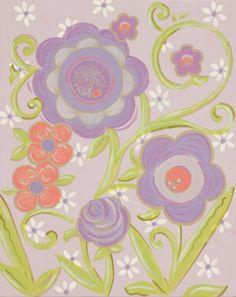 Glitter Lavendar Flower II CP314-