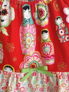 Size 10 Red Matryoshka Nesting Dolls Peasant by DoloresAndCompany, $38.00