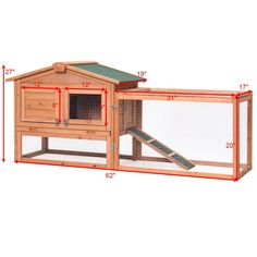 Save on Teekland Bunny House, Waterproof Two-Tier Wooden Rabbit Hutch Cage Chicken Coop House Bunny Hen Pet Animal Backyard - Top coupons, promo codes and deals at Couponners 2019 Rabbit Cages, House Rabbit, Pet Rabbit, Hen House, Duck House, Portable Chicken Coop, Chicken Coop Plans, Diy Chicken Coop, Cage Hamster