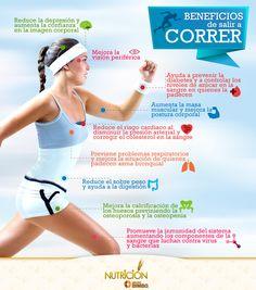 Estos son sólo algunos beneficios de correr. ¡Actívate! #Salud