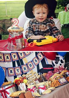 Image detail for -Western Cowboy Birthday Party — 505 Design+Paperie Rodeo Birthday, Cowboy Birthday Party, Cowboy Party, First Birthday Parties, Birthday Party Decorations, 5th Birthday, Birthday Ideas, Western Parties, Farm Party