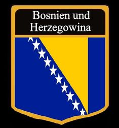 Bosnien Und Herzegowina Flagge Fahne Gif Animation Bosnia And