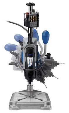 Dremel 220-01 Rotary Tool Work Station - Ideal for crafts, hobbies, metal working, and a variety of around-the-house jobs, the 220-01 Dremel Work Station transforms any Dremel rotary tool into a tabletop drill press. It can be bolted on to your workbench