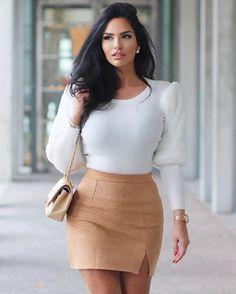 Ootd Fashion, Fashion Models, Fashion Beauty, Girl Fashion, Fashion Outfits, Mode Costume, Elegantes Outfit, Glamour, Brunette Beauty