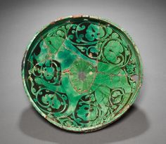 Bowl, Northwest Iran, Garrus district, late Saljuq Period, Century with Century replacement fragments Old Pottery, Ceramic Pottery, Pottery Art, Ancient Persia, Ancient Art, Persian Culture, Cleveland Museum Of Art, Iranian Art, Turkish Art