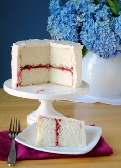 Lemon Layer Cake with Raspberry Filling