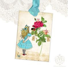 Alice in Wonderland Gift Tags Tea Teapot Teacup by mulberrymuse, $10.95