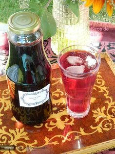 Sirop de Afine My Recipes, Preserves, Pickles, Drinking, Mason Jars, Alcoholic Drinks, Food And Drink, Homemade, Canning