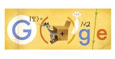 Totalidad ... Erwin Schrödinger y su gato en la caja en el doodle de Google de hoy 12 de agosto 2013