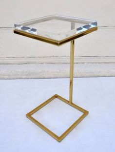 gorgeous Acrylic Martini Side Table - Mecox Gardens