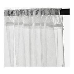 IKEA - LILL, Gardinenstore/Paar, Spitzengardinen lassen Tageslicht durch und dienen dabei als Blickschutz; perfekt für Fensterdekoration in mehreren Lagen.Durch Tunnelsaum in der Oberkante lassen sich die Gardinen direkt an einer Stange aufhängen.Lässt sich leicht auf das gewünschte Maß kürzen, da es nicht gesäumt werden muss.