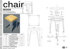 Welding Chair - Ivan Lo Portfolio - The Loop - dibujo de diseño - Chair Design Drawing Furniture, Chair Drawing, Cool Furniture, Furniture Design, Design Industrial, Industrial Design Portfolio, Creative Jobs, Technical Drawing, Metal Chairs