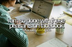 on We Heart It I Hate Facebook, Facebook Humor, Favorite Quotes, Best Quotes, Funny Quotes, Delete Social Media, Just Letting You Know, Her Campus, Just Girly Things