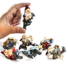 Miniature Garden Gnome Pick - Fairy Garden Miniatures - Dollhouse Miniatures - Doll Making Supplies - Craft Supplies
