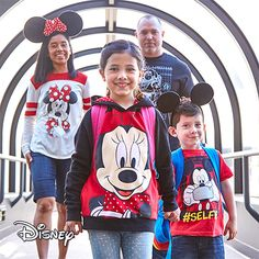 Gather up the gang and ready your mouse ears, because you're all going to Disneyland! Ready your crew with this collection of licensed essentials. Disney Deals, Disney Trips, That Look, Take That, Disneyland, Graphic Sweatshirt, Mouse Ears, Stars, Sweatshirts