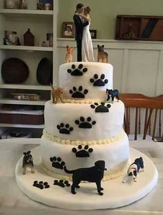 Love this puppy cake. Themed Wedding Cakes, Themed Cakes, Wedding Themes, Wedding Venues, Amazing Wedding Cakes, Unique Wedding Cakes, Pretty Cakes, Cute Cakes, Cheap Lace Wedding Dresses