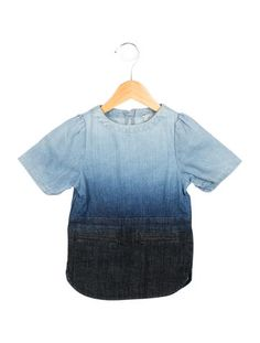 Stella McCartney Girls Ombré Denim Dress w/ Tags