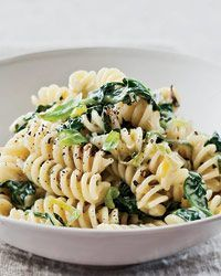 I love anything creamy in pasta...and I probably would add my fresh ricotta cheese I just made on top of it all!