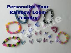 How to personalize your Rainbow Loom jewelry .... bracelets rings earrings necklaces  Valentine's Day Idea